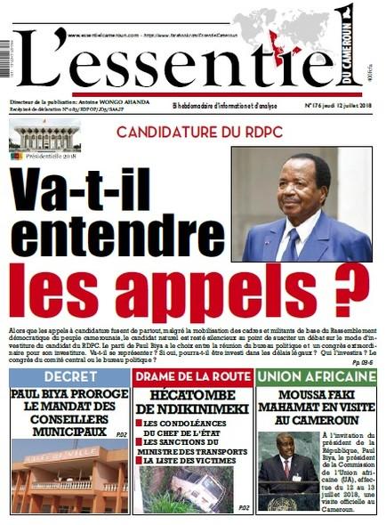 L'essentiel du Cameroun numero 176