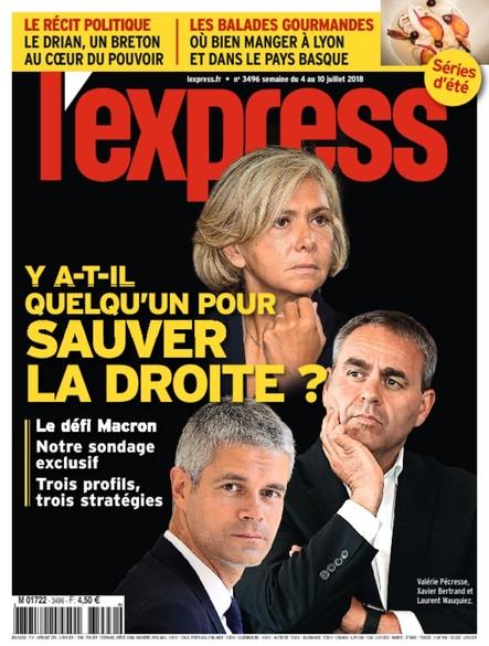 L'Express - Juillet 2018 - Y a-t-il quelqu'un pour sauver la droite ?
