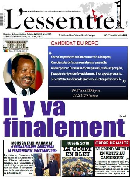 L'essentiel du Cameroun numéro 177