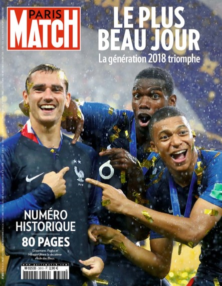 Paris Match N°3610 Juillet 2018