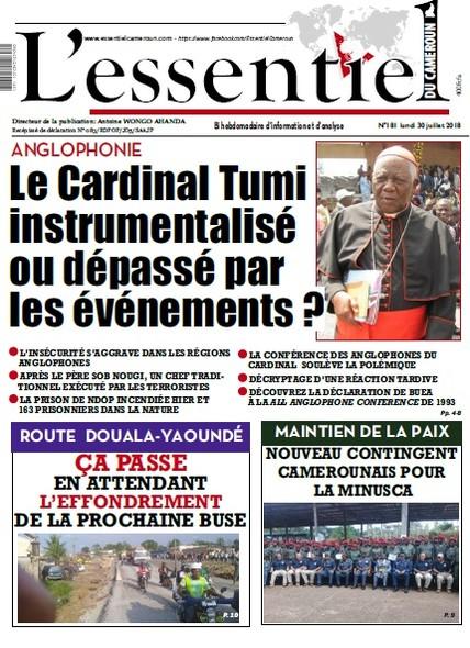 L'Essentiel du Cameroun numéro 181