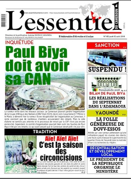 L'essentiel du Cameroun numéro 182