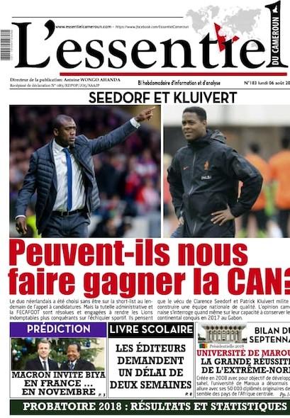 L'essentiel du Cameroun numéro 183