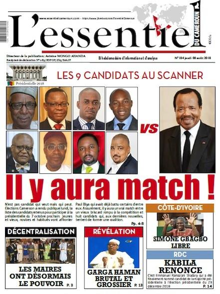 L'essentiel du Cameroun numéro 184