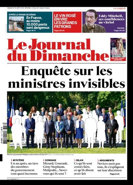 Journal du dimanche - 19 août 2018
