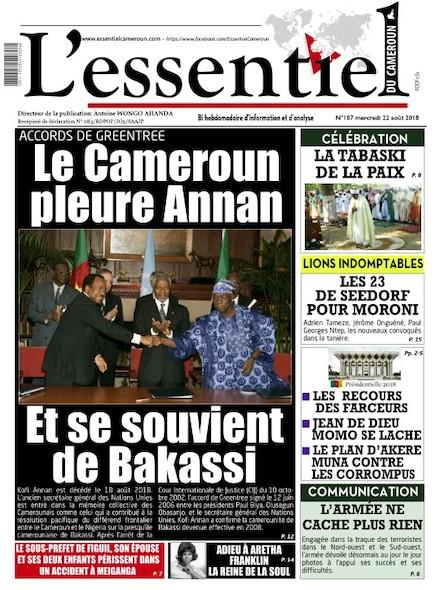 L'essentiel du Cameroun numéro 187