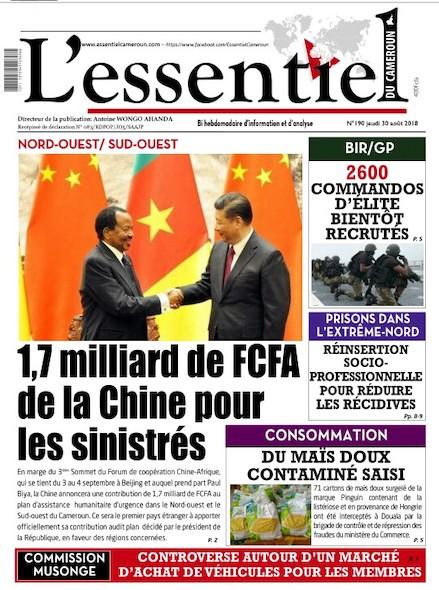 L'essentiel du Cameroun numéro 190