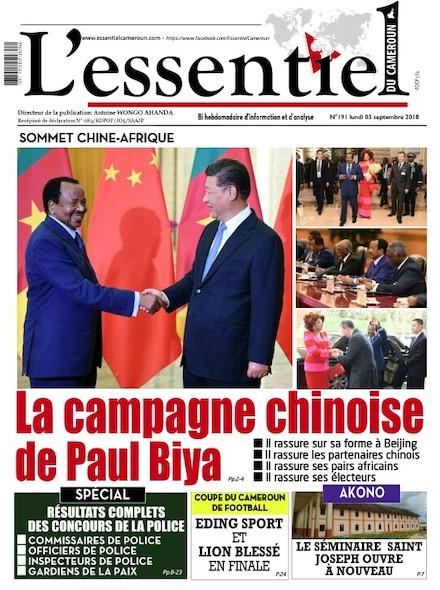 L'essentiel du Cameroun numéro 191