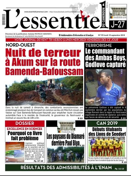 L'essentiel du Cameroun numéro 193