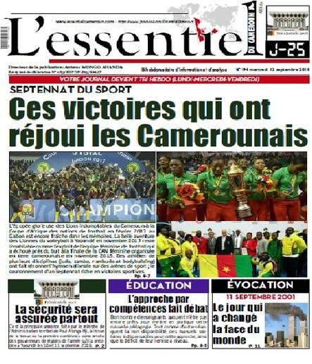 L'essentiel du Cameroun numéro 194