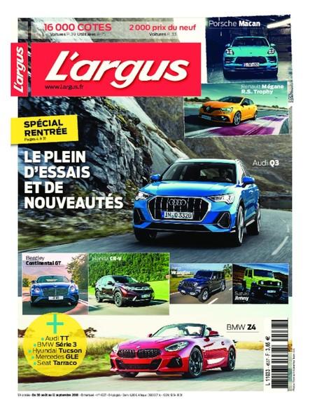 L'Argus -  Du 30 août au 12 septembre 2018