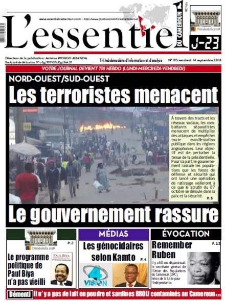 L'essentiel du Cameroun numéro 195