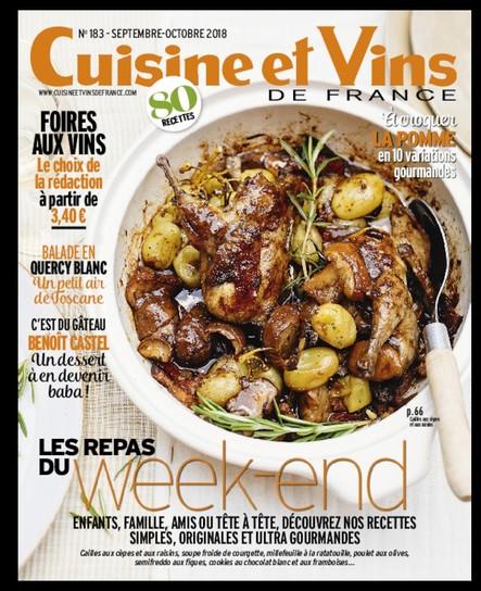 Cuisine & Vins - Août/Septembre 2018