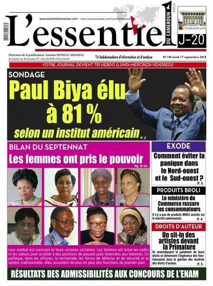 L'essentiel du Cameroun numero 196