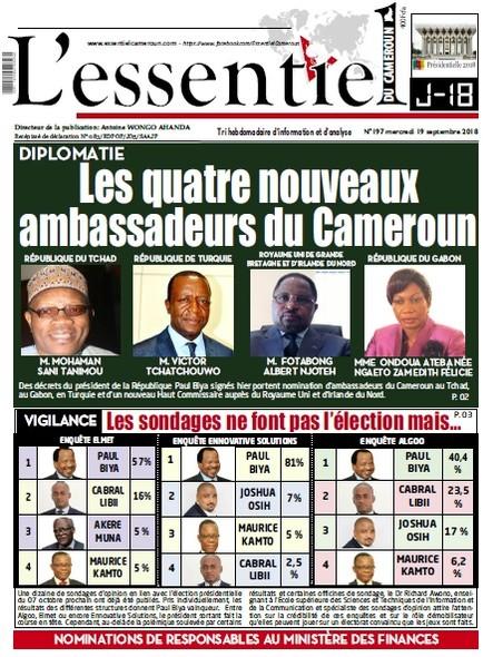 L'essentiel du Cameroun numéro 197