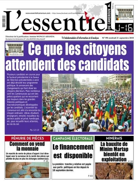 L'essentiel du Cameroun numéro 198