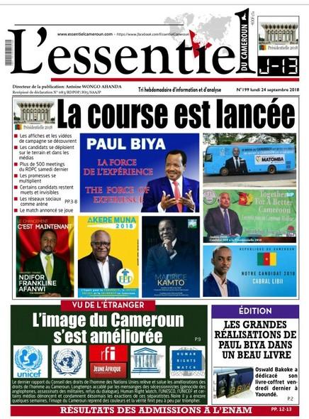 L'essentiel du Cameroun numéro 199