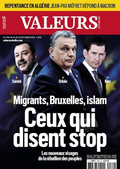 Valeurs Actuelles - Septembre 2018 - Ceux qui disent stop