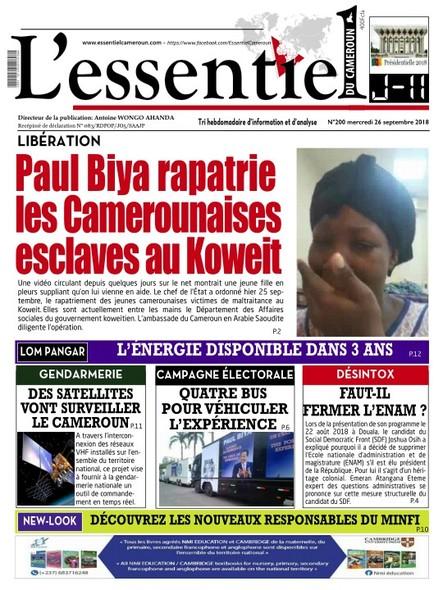 L'essentiel du Cameroun numéro 200