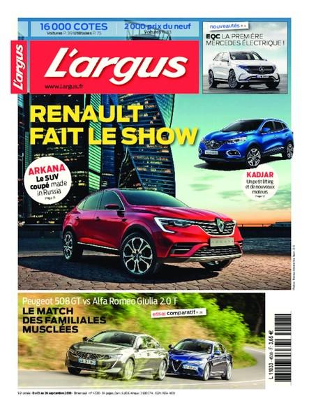 L'Argus - Du 13 au 30 septembre 2018