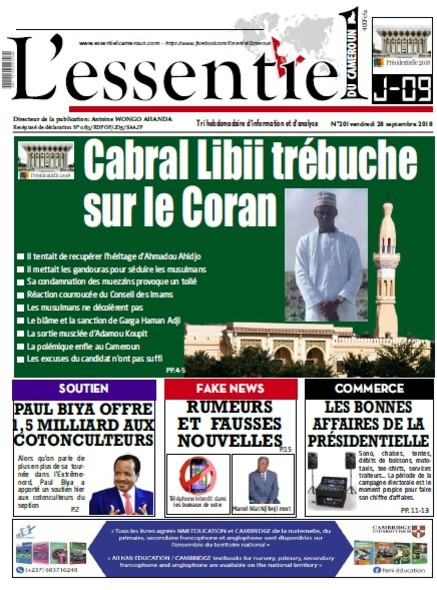 L'essentiel du Cameroun numéro 201