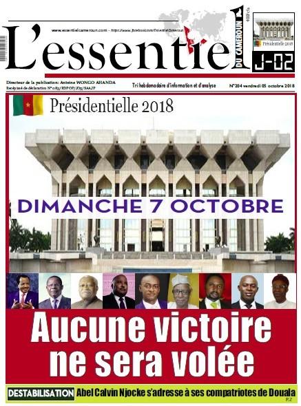 L'essentiel du Cameroun numéro 204