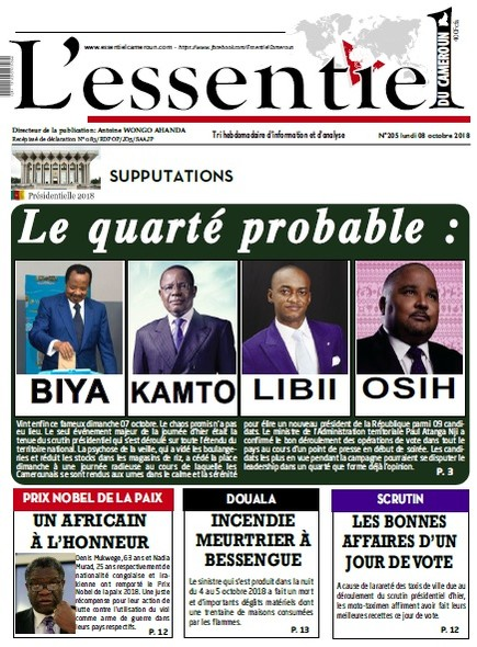L'essentiel du Cameroun numéro 205