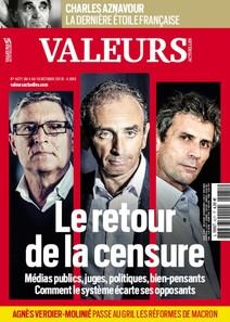 Valeurs Actuelles - Octobre 2018 - Le retour de la censure |