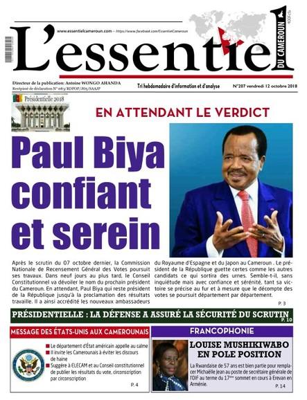 L'essentiel du Cameroun numéro 207