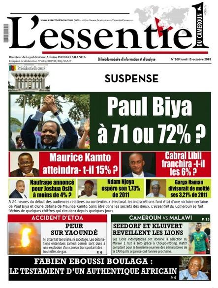 L'essentiel du Cameroun numéro 208