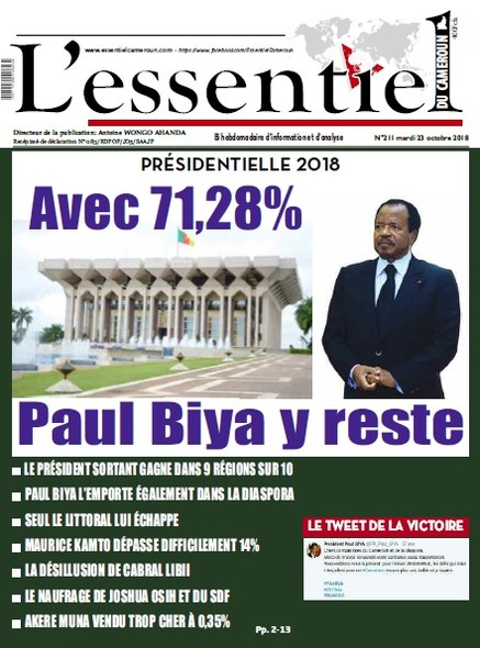 L'essentiel du Cameroun numéro 211
