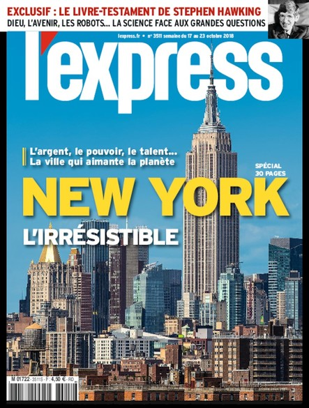 L'Express - Octobre 2018 - New York L'irrésistible