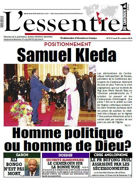 L'essentiel du Cameroun numéro 212