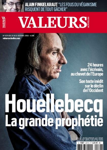 Valeurs Actuelles - Octobre 2018 - Houellebecq, la grande prophétie