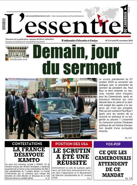 L'essentiel du Cameroun numero 214