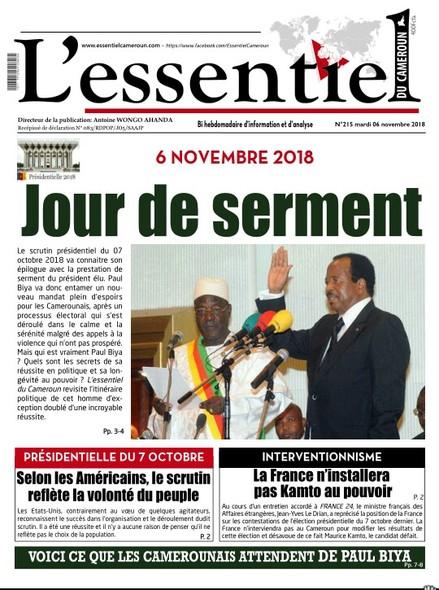 L'essentiel du Cameroun numéro 215
