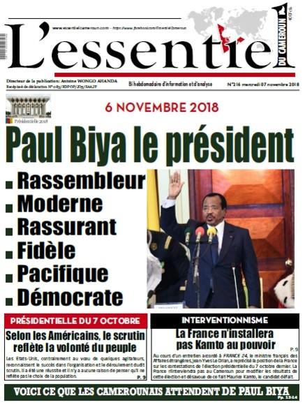 L'essentiel du Cameroun numéro 216