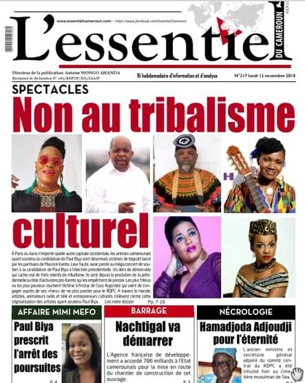 L'essentiel du Cameroun numéro 217