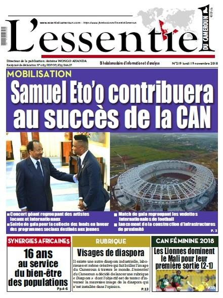 L'essentiel du Cameroun numéro 219