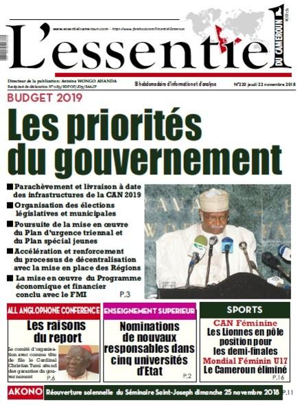 L'essentiel du Cameroun numéro 220