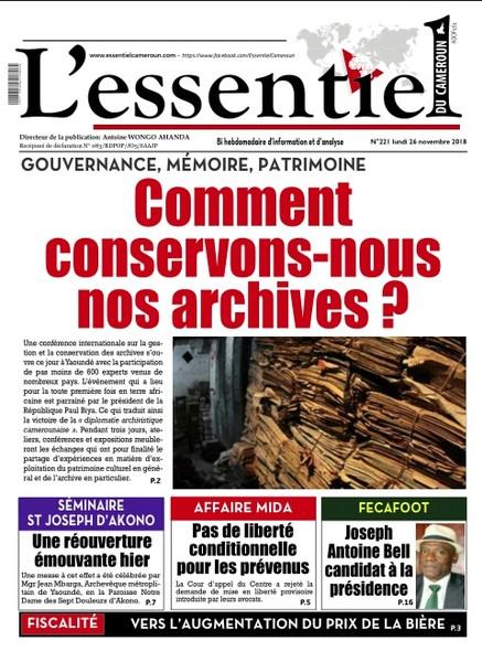 L'essentiel du Cameroun numéro 221