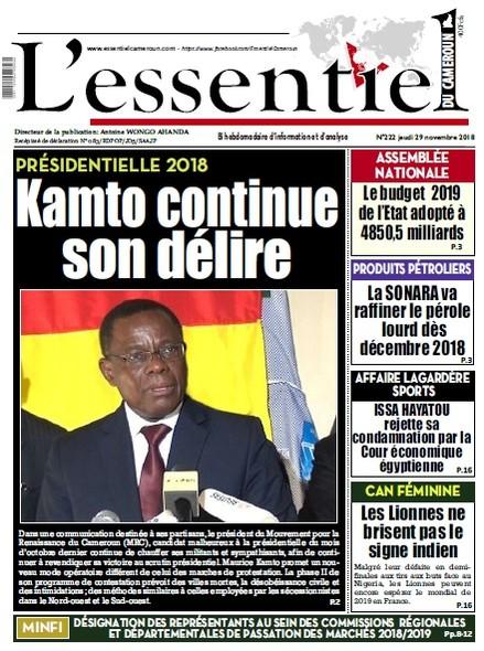L'essentiel du Cameroun numéro 222