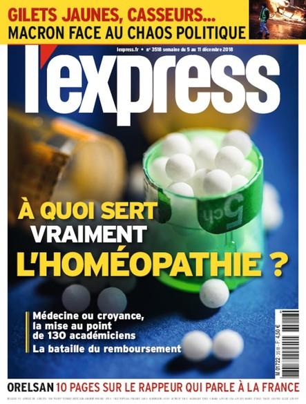 L'Express - Décembre 2018 - A quoi sert vraiment l'Homéopathie ?