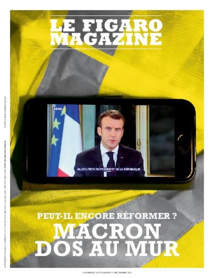 Figaro Magazine : Macron dos au mur