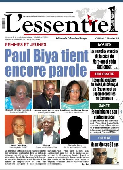 L'essentiel du Cameroun numéro 226