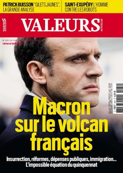 Valeurs Actuelles - Décembre 2018 - Macron sur le volcan français