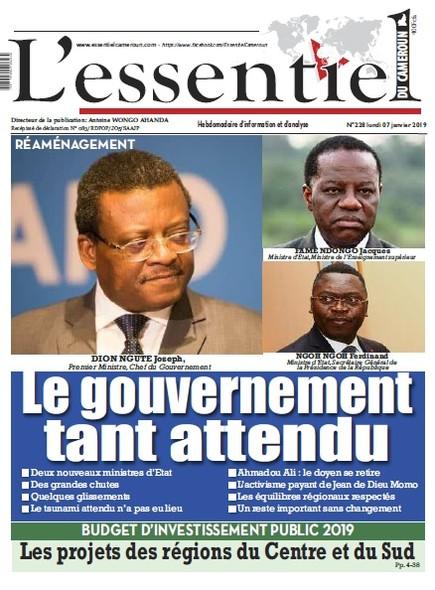 L'essentiel du Cameroun numéro 228