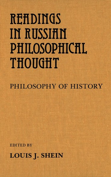 Readings in Russian Philosophical Thought : Philosophy of History