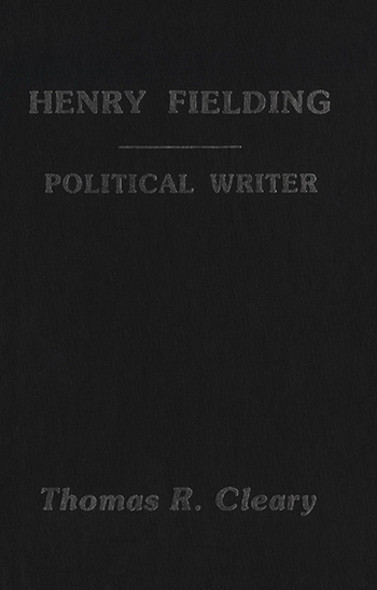Henry Fielding : A Political Writer