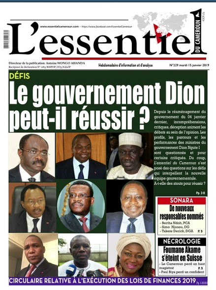 L'essentiel du Cameroun numéro 229